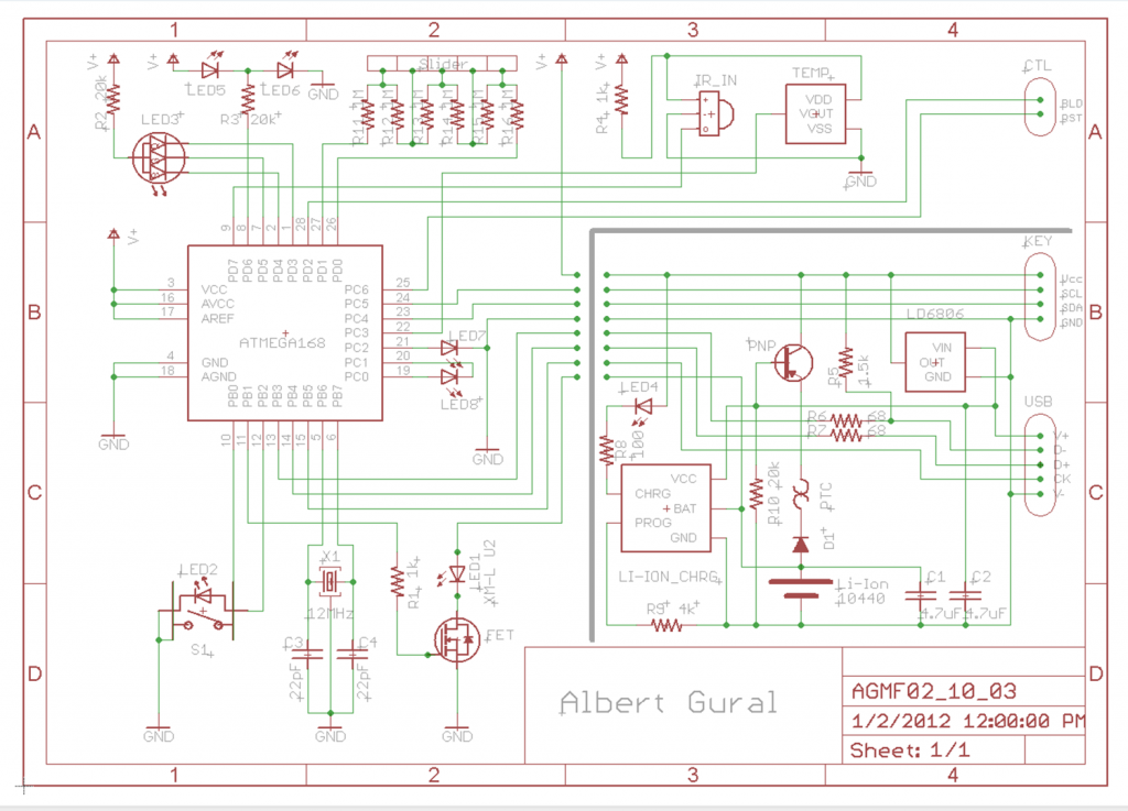 AG:MF02 Schematic Diagram