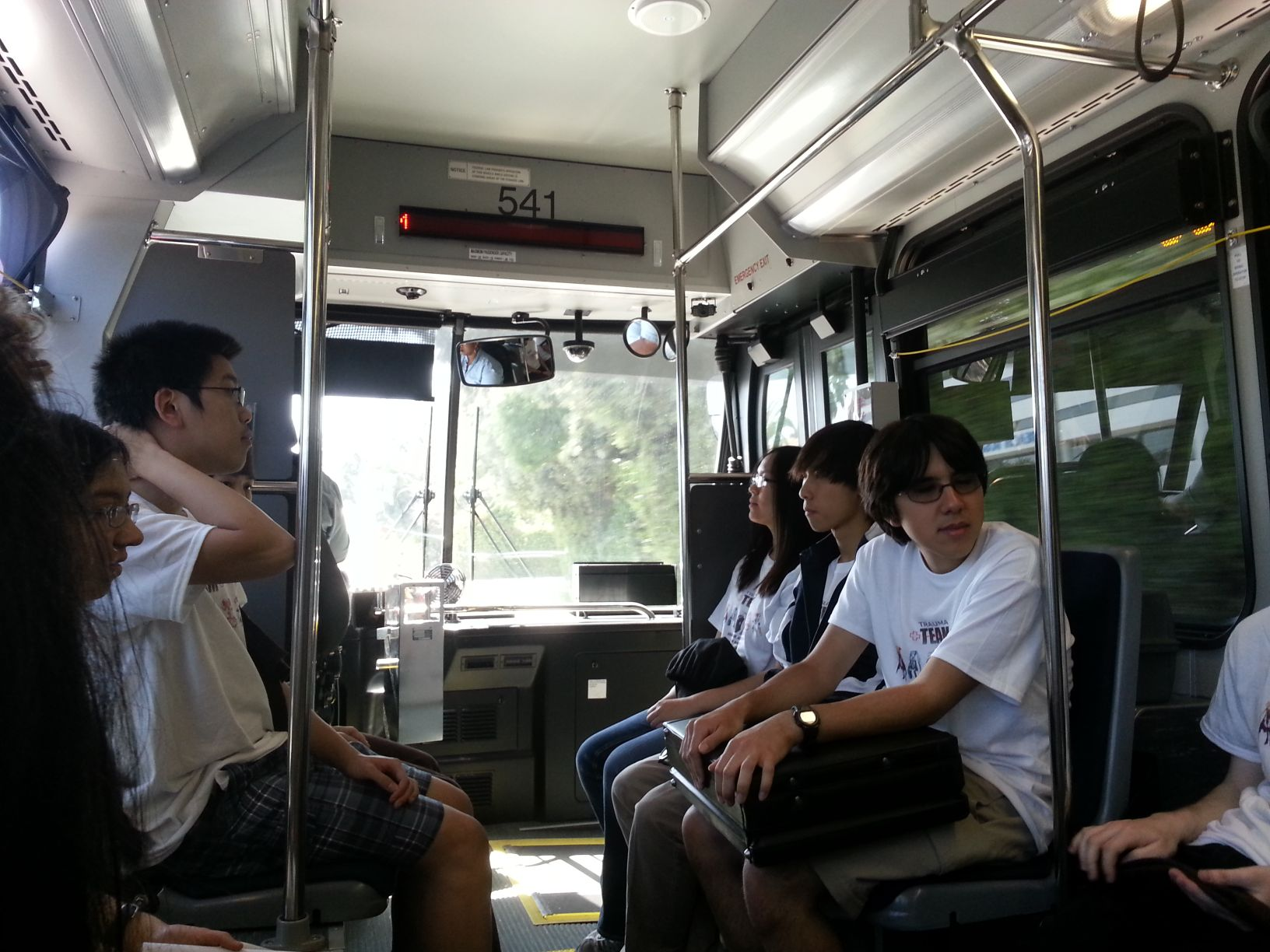 Delphi's Clue tells us to go to Manhattan beach (which turns out to be a long commute).  Here we are on the bus.
