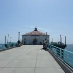 We head to the pier towards the aquarium.