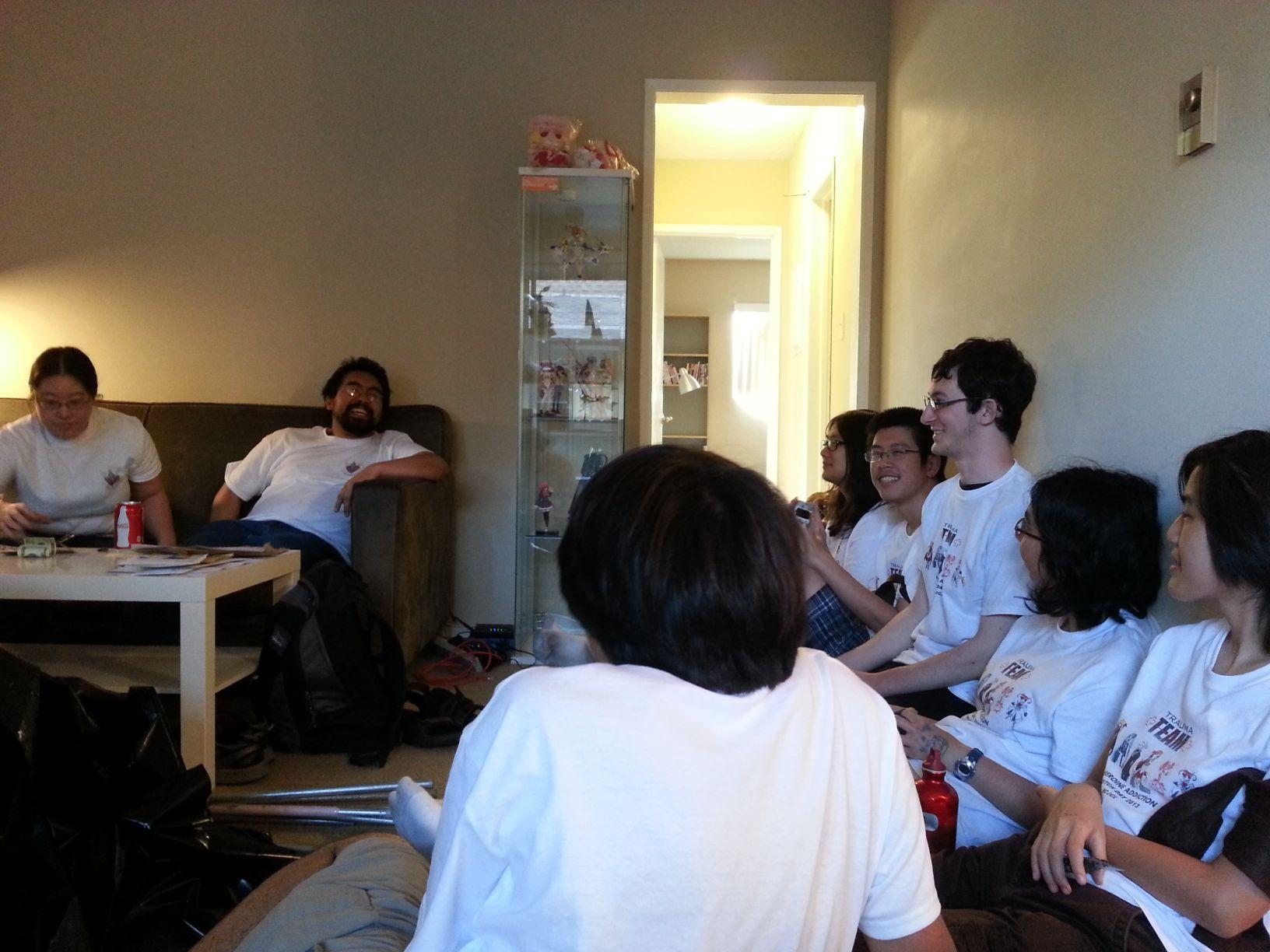 Finally, we chill in Raymond and Jomya's apartment...