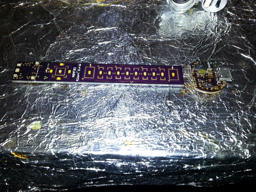 Finished soldering most of the components for the two separate boards.
