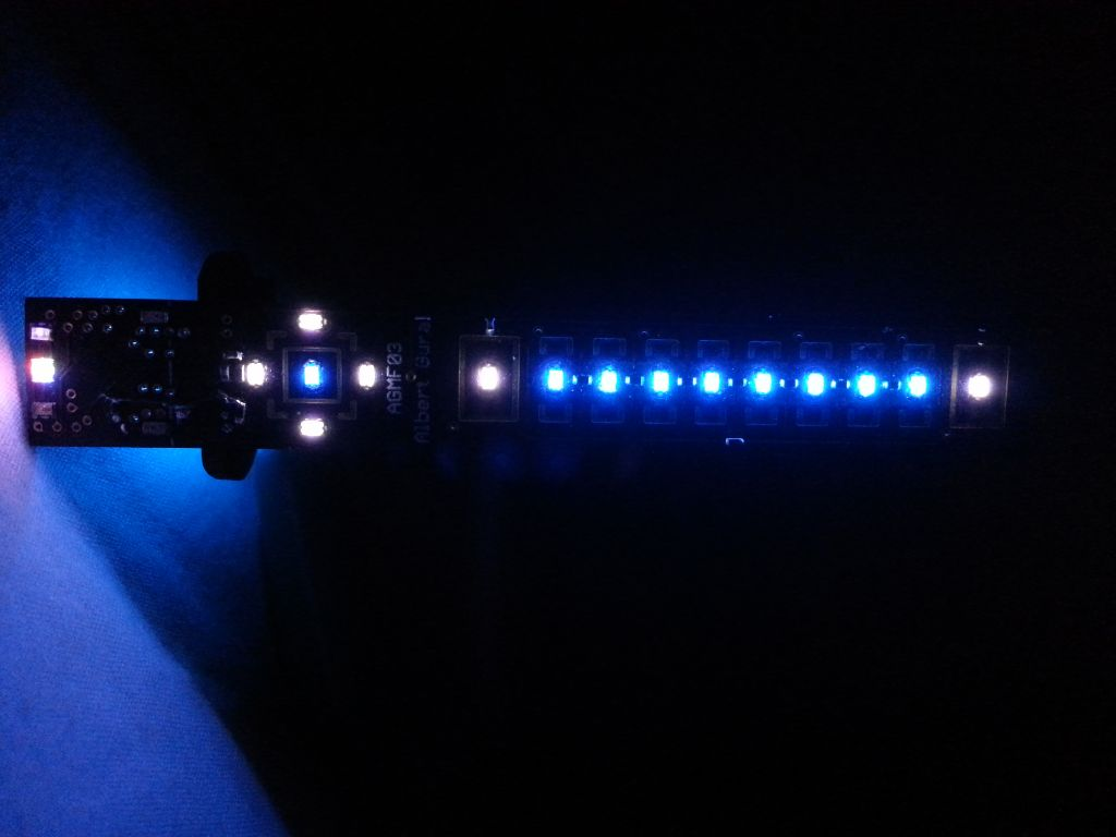 Close-up of the display LEDs.