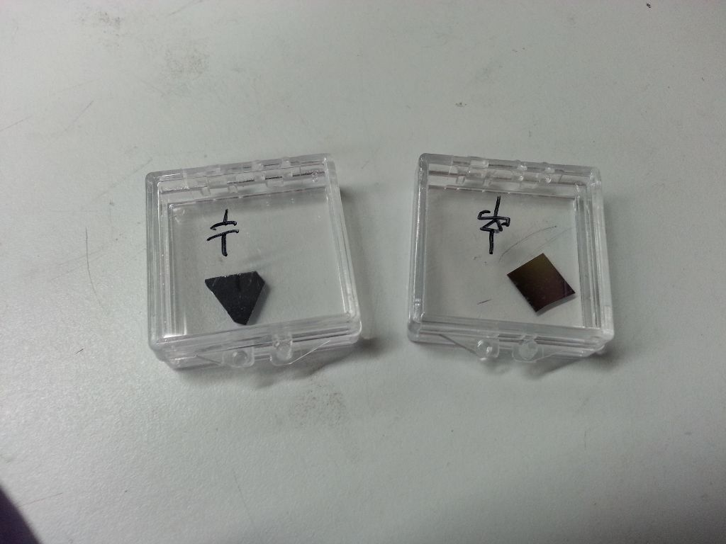 Silicon chips separated and placed in small boxes.