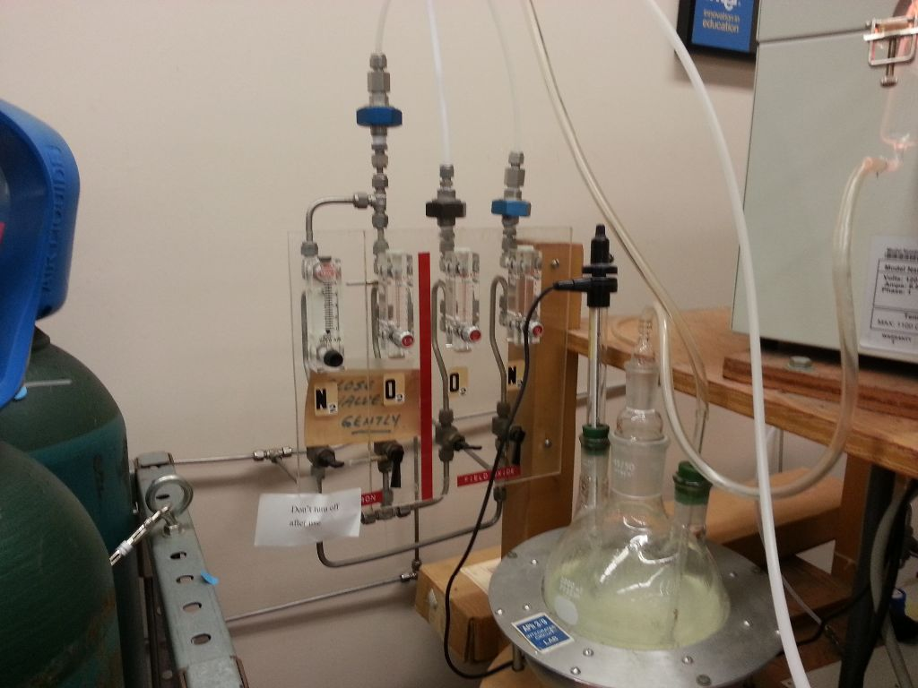 Oxygen should bubble through water at $1 ft^3/hr$ for 30 minutes at $1100^oC$.
