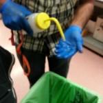 Isopropyl alcohol wash.