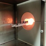 Place the chips in a field oxide furnace at $1100^oC$ for 30 minutes.