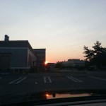 Beautiful sunset as I'm about to leave the lab.